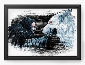 Quadro Decorativo A4 (33X24) Warrior Wolf - Loja Nerd e Geek - Presentes Criativos