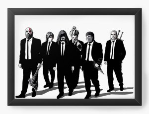 Quadro Decorativo A4 (33X24) Dark Players - Loja Nerd e Geek - Presentes Criativos