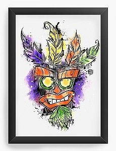 Quadro Decorativo A4 (33X24) Magic Bandicoot - Loja Nerd e Geek - Presentes Criativos