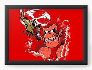 Quadro Decorativo A4 (33X24) Angry Monkey- Loja Nerd e Geek - Presentes Criativos