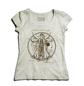 Camiseta Feminina Homem Espaço  - Loja Nerd e Geek - Presentes Criativos
