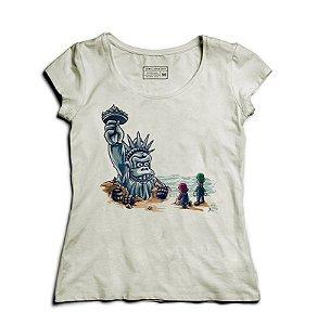 Camiseta Feminina Monkey American - Loja Nerd e Geek - Presentes Criativos