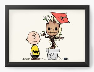 Quadro Decorativo A4 (33X24) Boy and Friend Tree  - Loja Nerd e Geek - Presentes Criativos