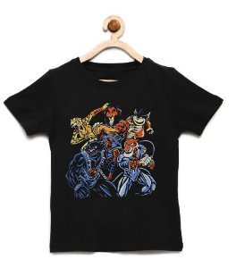 Camiseta Infantil Reis da Selva - Loja Nerd e Geek - Presentes Criativos