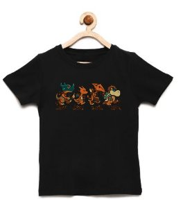 Camiseta Infantil Dragon Evolution - Loja Nerd e Geek - Presentes Criativos