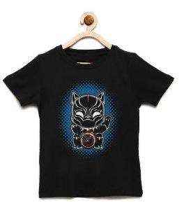 Camiseta Infantil Strong Panther  - Loja Nerd e Geek - Presentes Criativos
