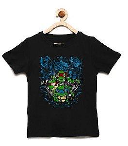 Camiseta Infantil Ninjas - Loja Nerd e Geek - Presentes Criativos