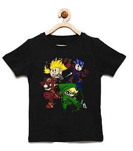 Camiseta Infantil Elf e Fats - Loja Nerd e Geek - Presentes Criativos