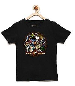 Camiseta Infantil Futuro Kombat  - Loja Nerd e Geek - Presentes Criativos