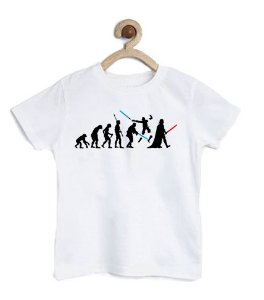 Camiseta Infantil Dark Evolution - Loja Nerd e Geek - Presentes Criativos
