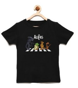 Camiseta Infantil The Aliens - Loja Nerd e Geek - Presentes Criativos