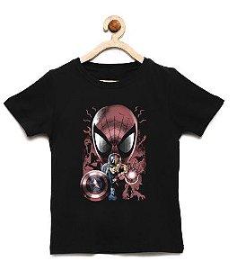 Camiseta Infantil Tim Man vs Shield - Loja Nerd e Geek - Presentes Criativos