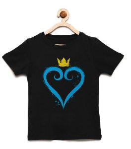 Camiseta Infantil Heart of the Game - Loja Nerd e Geek - Presentes Criativos
