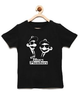 Camiseta Infantil Plumber 007 - Loja Nerd e Geek - Presentes Criativos