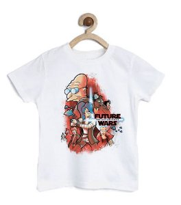 Camiseta Infantil Space wars Future - Loja Nerd e Geek - Presentes Criativos