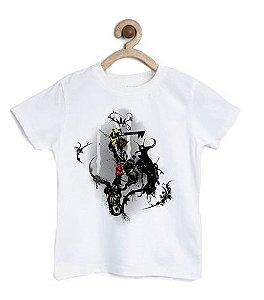 Camiseta Infantil Hearts - A Força - Loja Nerd e Geek - Presentes Criativos