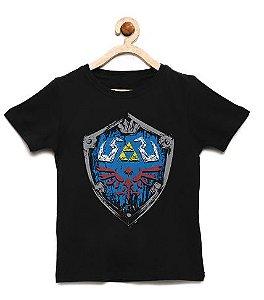 Camiseta Infantil Escudo Elf - Loja Nerd e Geek - Presentes Criativos