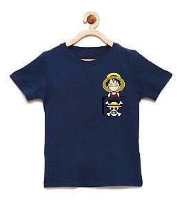 Camiseta Infantil Bolso Sorriso - Loja Nerd e Geek - Presentes Criativos