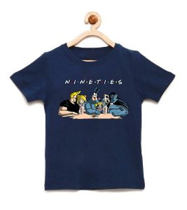 Camiseta Infantil Nineties Friends - Loja Nerd e Geek - Presentes Criativos