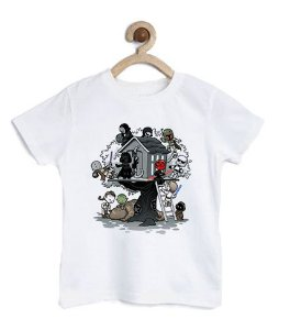 Camiseta Infantil Parque do Espaço - Loja Nerd e Geek - Presentes Criativos