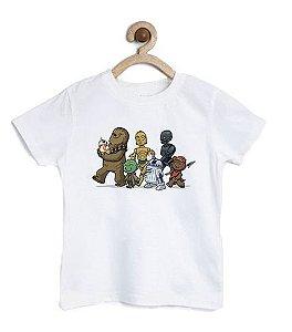 Camiseta Infantil Robots Friends  - Loja Nerd e Geek - Presentes Criativos