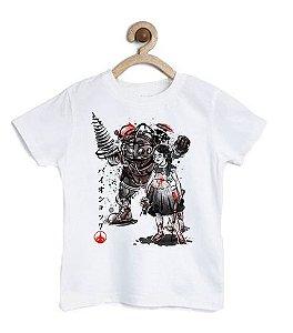 Camiseta Infantil Shooting Monster - Loja Nerd e Geek - Presentes Criativos