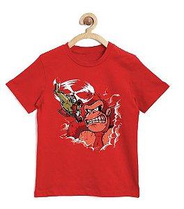 Camiseta Infantil Angry Monkey - Loja Nerd e Geek - Presentes Criativos