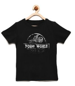 Camiseta Infantil Dinosaur World - Loja Nerd e Geek - Presentes Criativos