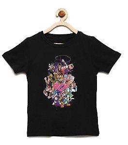 Camiseta Infantil Jogos 90' - Loja Nerd e Geek - Presentes Criativos