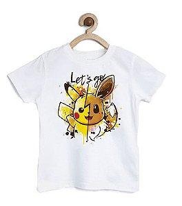 Camiseta Infantil Let's Go  - Loja Nerd e Geek - Presentes Criativos