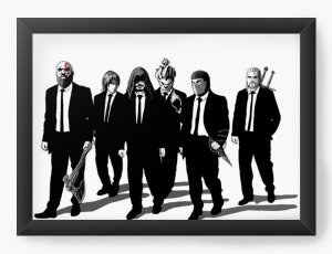 Quadro Decorativo A3 (45X33) Dark Players - Loja Nerd e Geek - Presentes Criativos