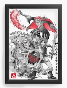Quadro Decorativo A3 (45X33) Elf and Game - Loja Nerd e Geek - Presentes Criativos