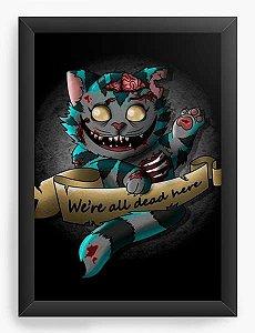 Quadro Decorativo A3 (45X33) Geekz Alice no País das Maravilhas - Loja Nerd e Geek - Presentes Criativos