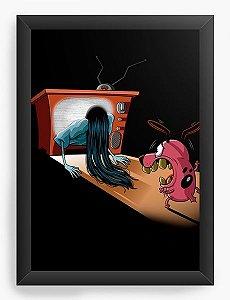 Quadro Decorativo A3 (45X33) Geekz Coragem, o Cão Covarde - Loja Nerd e Geek - Presentes Criativos