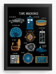 Quadro Decorativo A3 (45X33) Geekz Doctor Who - Loja Nerd e Geek - Presentes Criativos