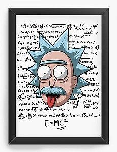 Quadro Decorativo A3 (45X33) Geekz Formula E = MC - Loja Nerd e Geek - Presentes Criativos