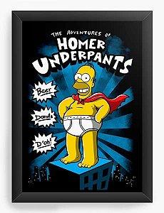 Quadro Decorativo A3 (45X33) Geekz Homer Simpsons - Loja Nerd e Geek - Presentes Criativos