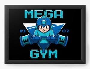 Quadro Decorativo A3 (45X33) Geekz Mega Man GYM - Loja Nerd e Geek - Presentes Criativos