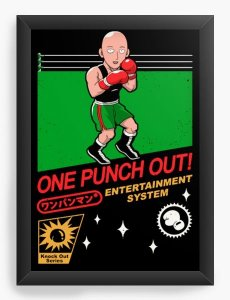 Quadro Decorativo A3 (45X33) Geekz One Punch out! - Loja Nerd e Geek - Presentes Criativos