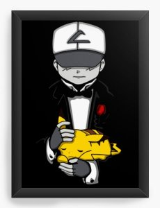 Quadro Decorativo A3 (45X33) Geekz Pikachu e Ash - Loja Nerd e Geek - Presentes Criativos