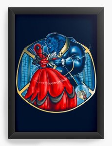 Quadro Decorativo A3 (45X33) Geekz Red Hero - Loja Nerd e Geek - Presentes Criativos