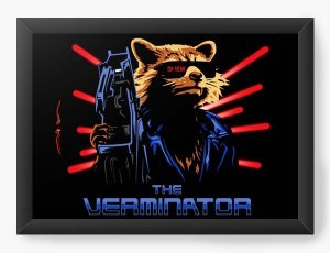 Quadro Decorativo A3 (45X33) Geekz Rocket - Loja Nerd e Geek - Presentes Criativos