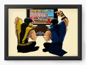 Quadro Decorativo A3 (45X33) Geekz Scorpion Street Fighter - Loja Nerd e Geek - Presentes Criativos