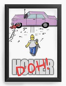 Quadro Decorativo A3 (45X33) Geekz Simpsons - Loja Nerd e Geek - Presentes Criativos
