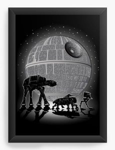 Quadro Decorativo A3 (45X33) Geekz Space Wars - Loja Nerd e Geek - Presentes Criativos