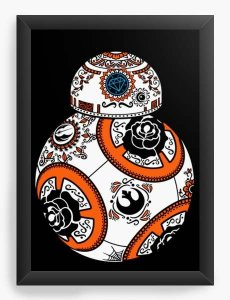 Quadro Decorativo A3 (45X33) Geekz Space Wars BB - Loja Nerd e Geek - Presentes Criativos