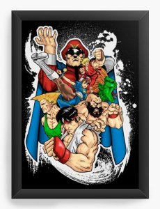 Quadro Decorativo A3 (45X33) Geekz Street Fighter - Loja Nerd e Geek - Presentes Criativos