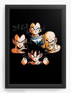 Quadro Decorativo A3 (45X33) Geekz Super Dragon Z - Loja Nerd e Geek - Presentes Criativos