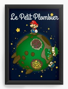 Quadro Decorativo A3 (45X33) Geekz Super Plumber - La Petit - Loja Nerd e Geek - Presentes Criativos