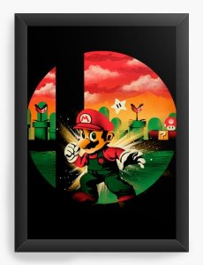 Quadro Decorativo A3 (45X33) Geekz Super Plumber - Loja Nerd e Geek - Presentes Criativos